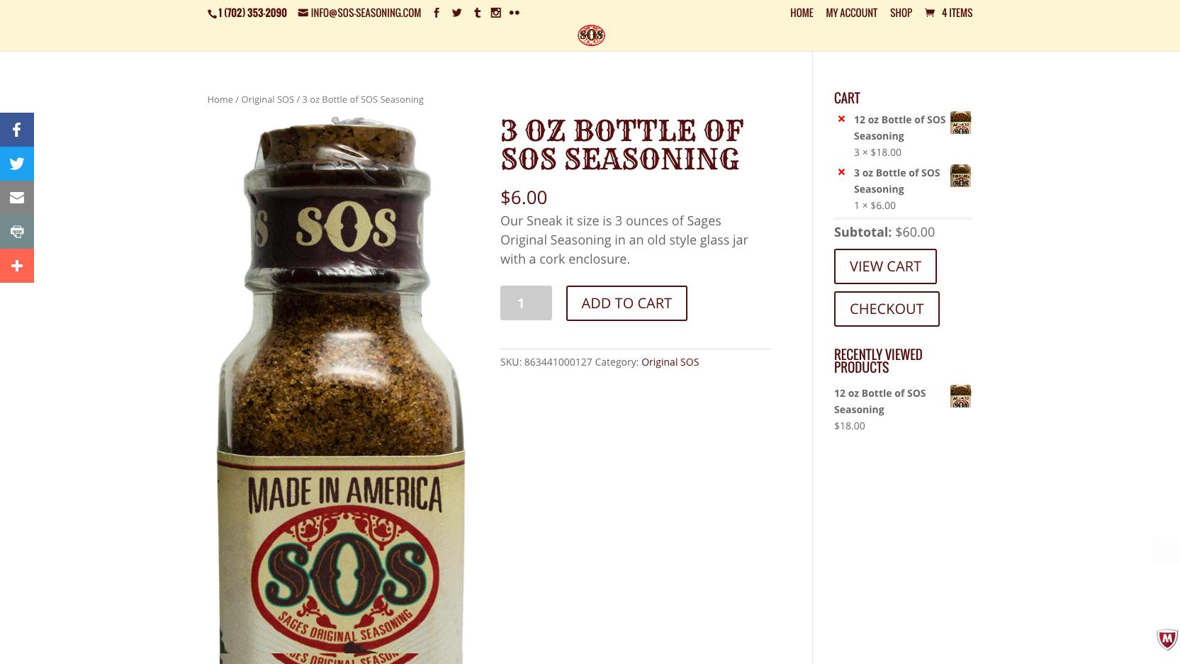 SOS Seasoning Product