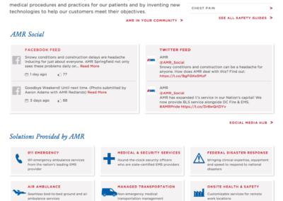 AMR Home Page (desktop), AFTER redesign