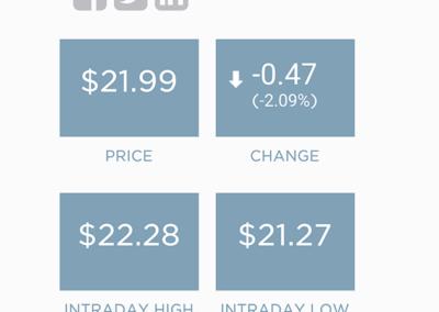 Envision Healthcare Investors page (mobile)